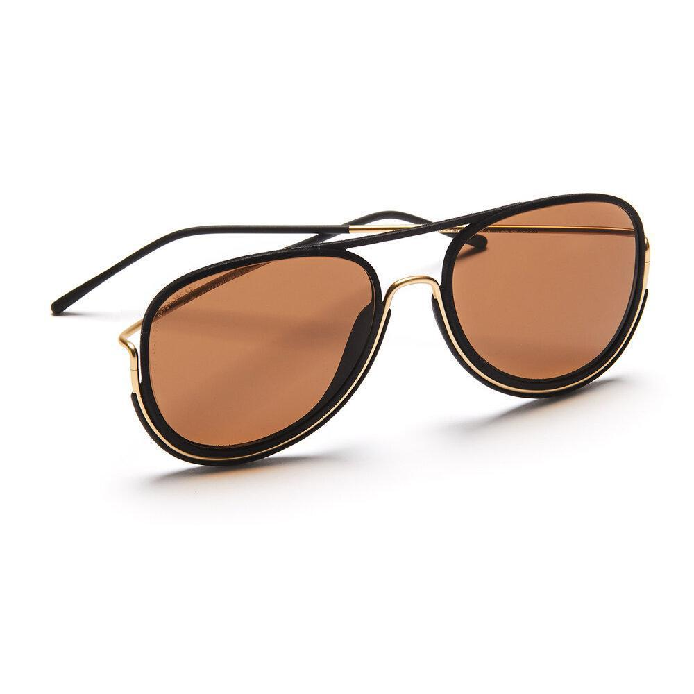 Aequem.com Shop Women's Ethical Fashion & Women's Sustainable Fashion MacCready Glasses in Gold/Black/Brown-Glasses-Wire Glasses (UK)