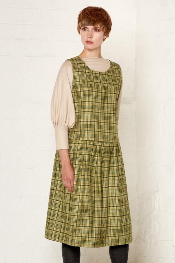 Aequem.com Shop Women's Ethical Fashion & Women's Sustainable Fashion Meryl Dress - Green-Dresses-Bo Carter (UK)
