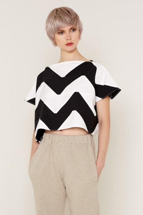 Aequem.com Shop Women's Ethical Fashion & Women's Sustainable Fashion Namaka Top - Black and White-Tops-Bo Carter (UK)