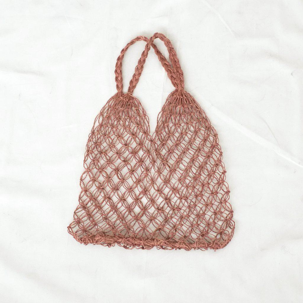 Aequem.com Shop Women's Ethical Fashion & Women's Sustainable Fashion Natalia Macrame Bag - Cocoa-Bags-INNÉ Studios