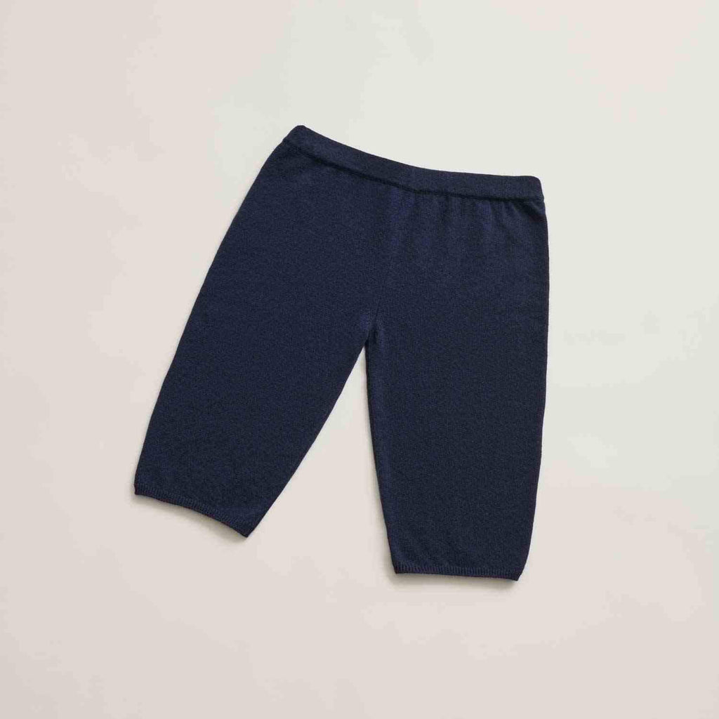 Aequem.com Shop Women's Ethical Fashion & Women's Sustainable Fashion Navy Recycled Cashmere 20.2 Bicycle Shorts-Bottoms-Phi Atelier