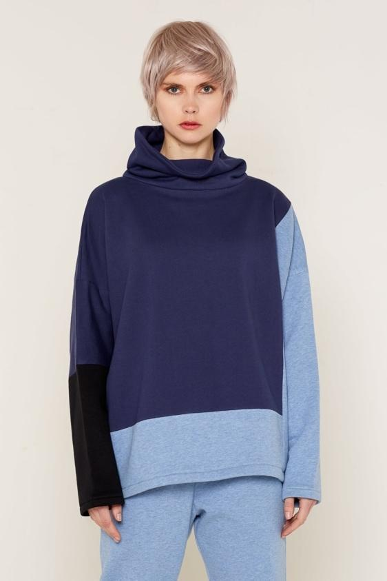 Aequem.com Shop Women's Ethical Fashion & Women's Sustainable Fashion Neptune Jumper - Blue-Tops-Bo Carter (UK)