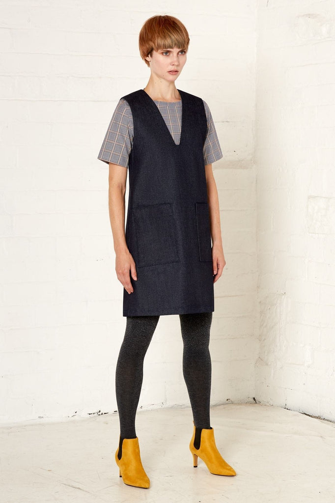 Aequem.com Shop Women's Ethical Fashion & Women's Sustainable Fashion Nikki Dress - Navy-Dresses-Bo Carter (UK)