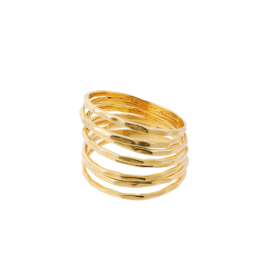 Aequem.com Shop Women's Ethical Fashion & Women's Sustainable Fashion Nudo Stacking Rings In Gold-Jewellery-Amadeus (UK)
