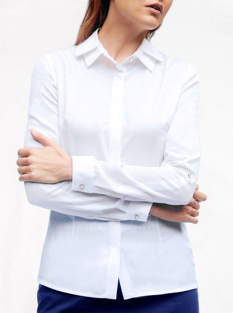 Aequem.com Shop Women's Ethical Fashion & Women's Sustainable Fashion ODER White Bamboo Shirt-Tops-Kirivoo (UK)