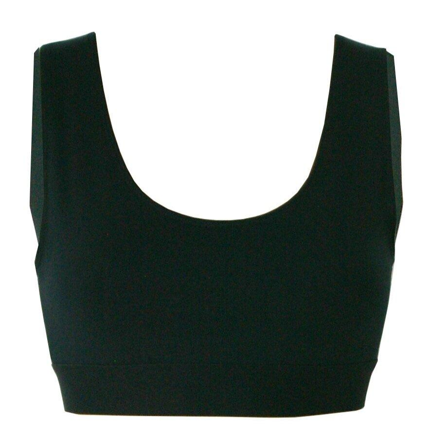 Aequem.com Shop Women's Ethical Fashion & Women's Sustainable Fashion ORGANIC BAMBOO SPORTS BRA IN BLACK-Tops-Rozenbroek (UK)