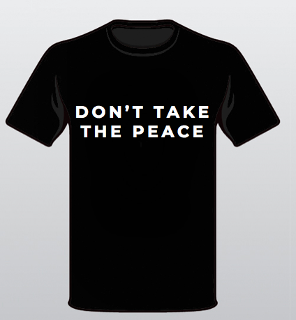 Aequem.com Shop Women's Ethical Fashion & Women's Sustainable Fashion Organic Cotton Don't Take the Peace Unisex T-shirt in Black-Tops-WeAreNativ (UK)
