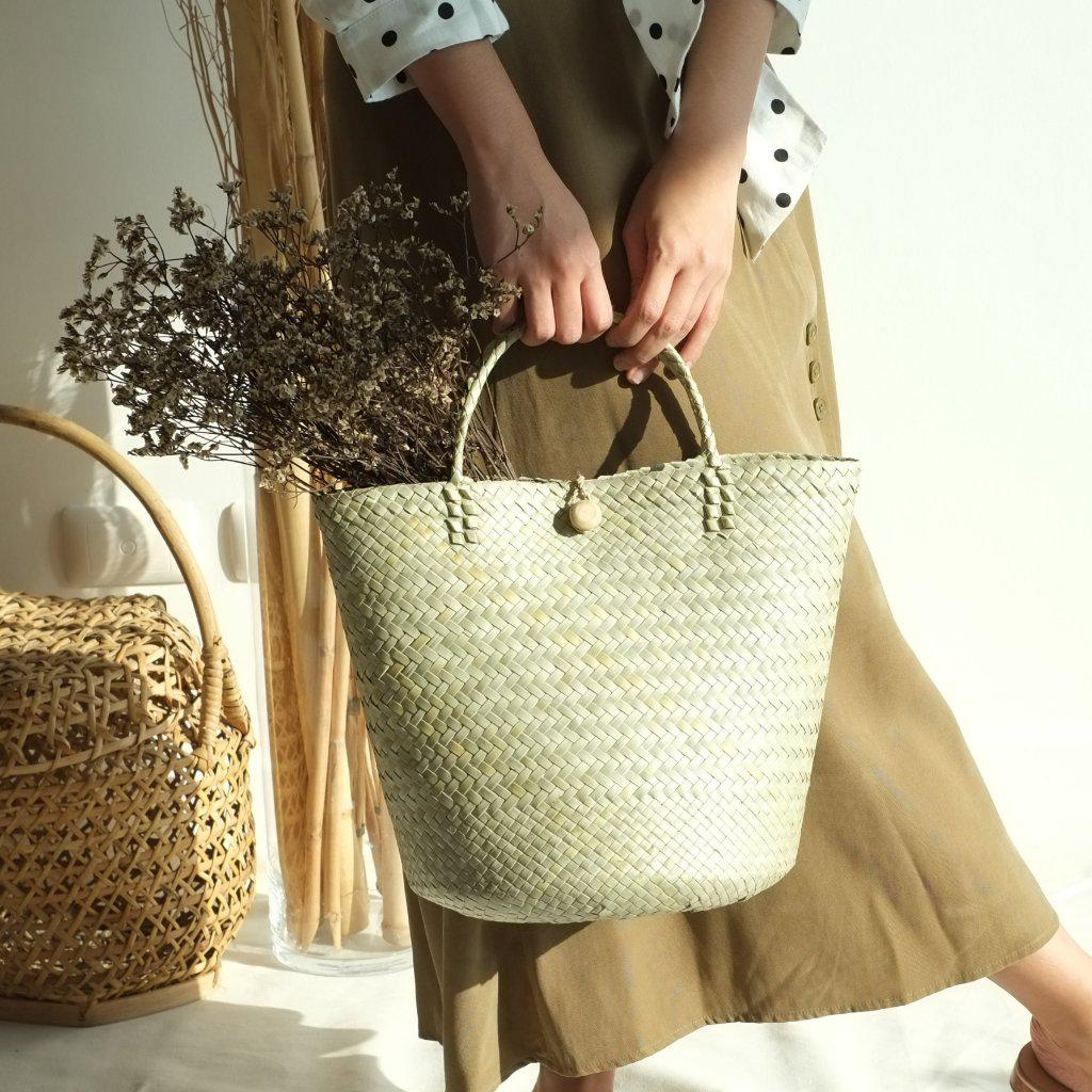 Aequem.com Shop Women's Ethical Fashion & Women's Sustainable Fashion Pia Mixed Weave Tote Bag-Tote Bags-INNÉ Studios