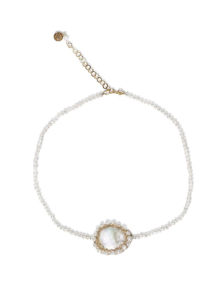 Aequem.com Shop Women's Ethical Fashion & Women's Sustainable Fashion Polka 14k Gold-filled Freshwater Baroque Pearl Choker-Jewellery-Carolina Wong (UK)