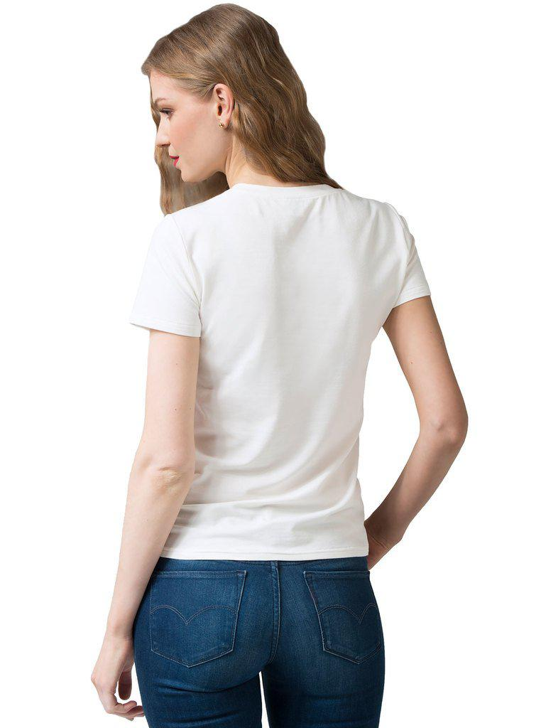Aequem.com Shop Women's Ethical Fashion & Women's Sustainable Fashion PRIGITTE White Bamboo T-shirt-Tops-Kirivoo (UK)