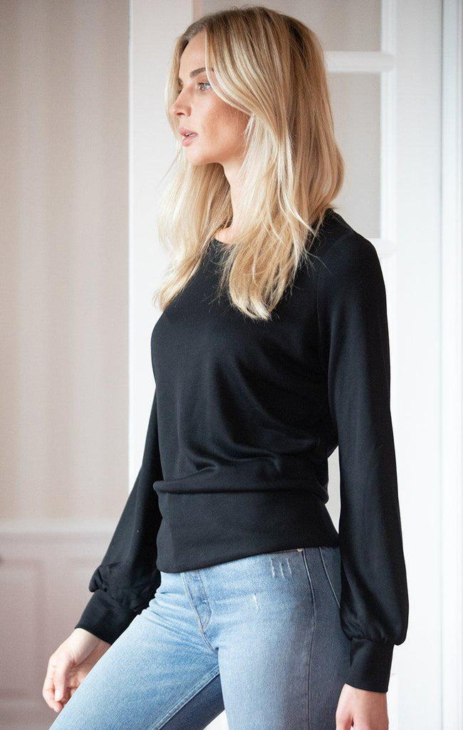 Aequem.com Shop Women's Ethical Fashion & Women's Sustainable Fashion Pullover Torreya in Black-Tops-AVANI