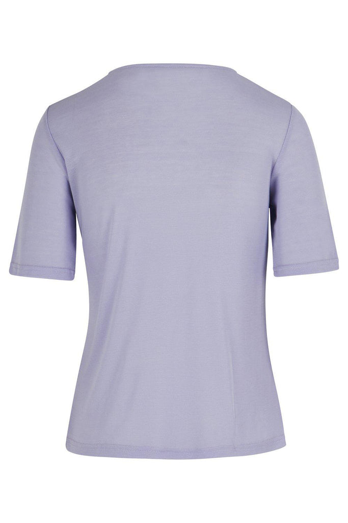 Aequem.com Shop Women's Ethical Fashion & Women's Sustainable Fashion Purple Tencel Tee-Tops-Maqu