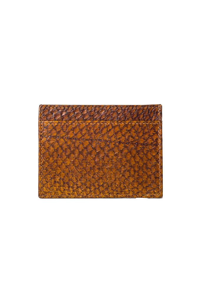 Aequem.com Shop Women's Ethical Fashion & Women's Sustainable Fashion Rio Card Holder in Cognac & Ultramarine-Wallets-World Of Mayu