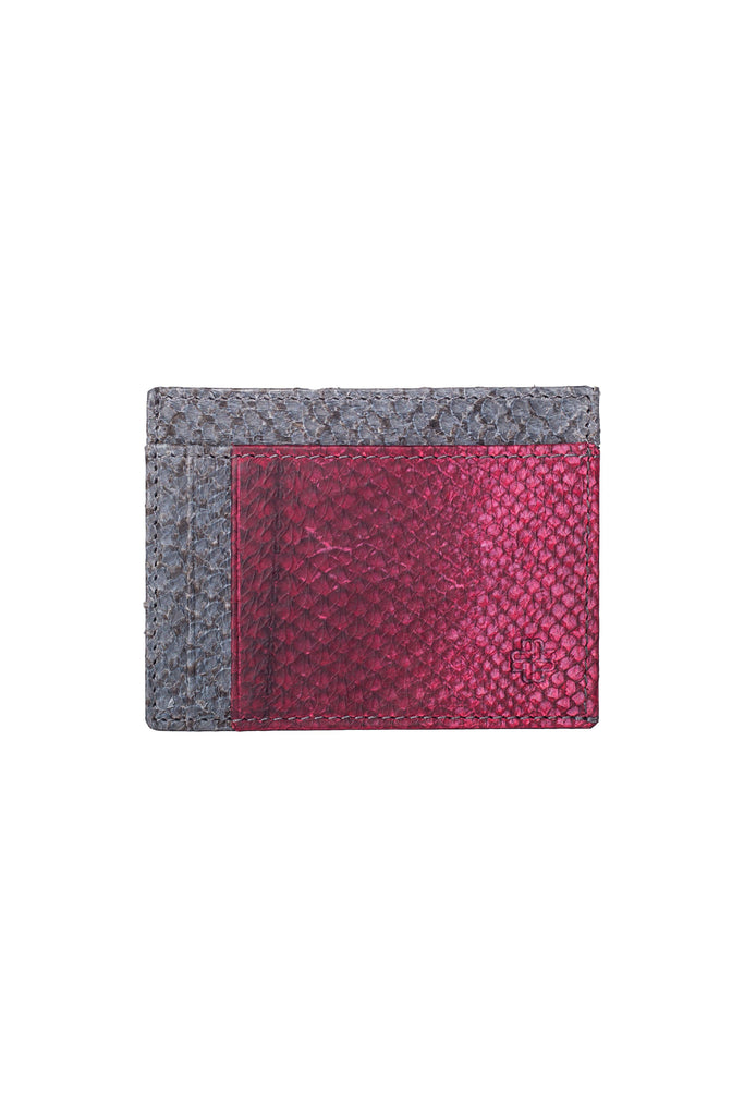 Aequem.com Shop Women's Ethical Fashion & Women's Sustainable Fashion Rio Card Holder in Slate & Bordeaux-Wallets-World Of Mayu