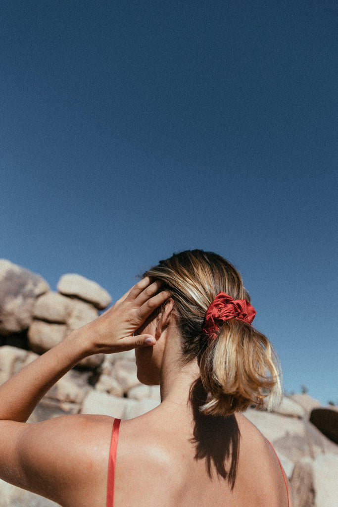 Aequem.com Shop Women's Ethical Fashion & Women's Sustainable Fashion Scrunchie-Hair Accessories-A Perfect Nomad