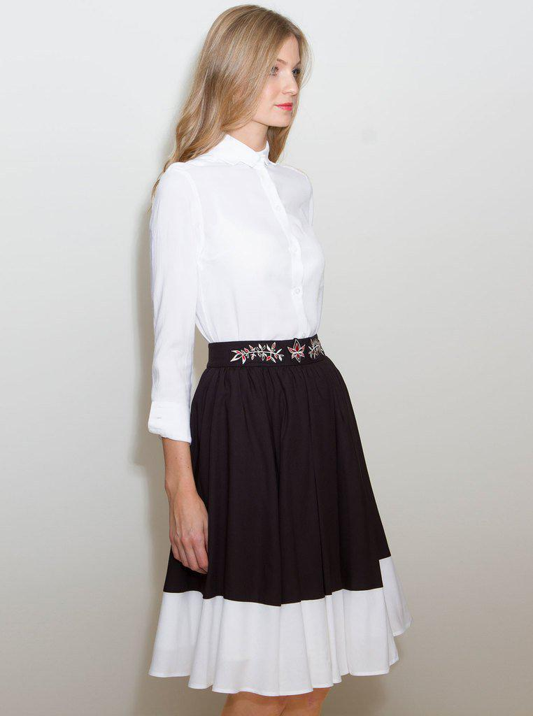 Aequem.com Shop Women's Ethical Fashion & Women's Sustainable Fashion SIMONA Multi-Color Bamboo Skirt-Skirts-Kirivoo (UK)