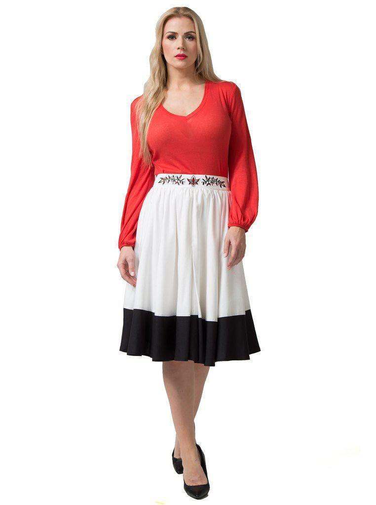 Aequem.com Shop Women's Ethical Fashion & Women's Sustainable Fashion SIMONE Multi-Color Bamboo Skirt-Skirts-Kirivoo (UK)