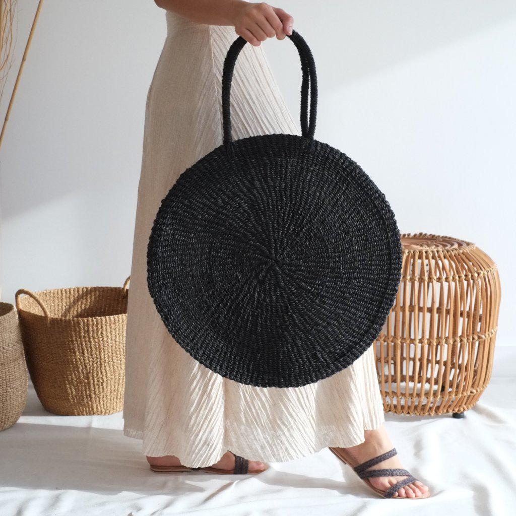 Aequem.com Shop Women's Ethical Fashion & Women's Sustainable Fashion Sola Maxi Bag - Black-Bags-INNÉ Studios