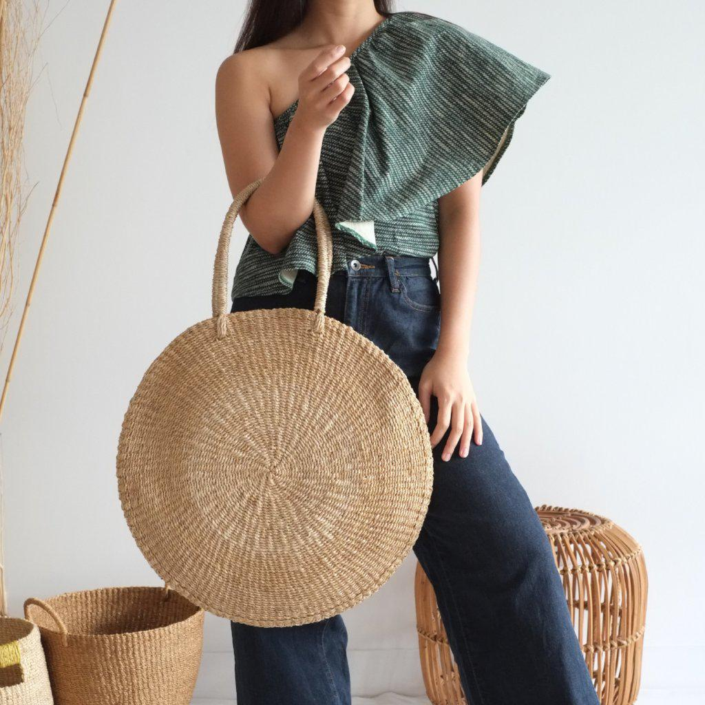Aequem.com Shop Women's Ethical Fashion & Women's Sustainable Fashion Sola Maxi Bag - Natural-Bags-INNÉ Studios
