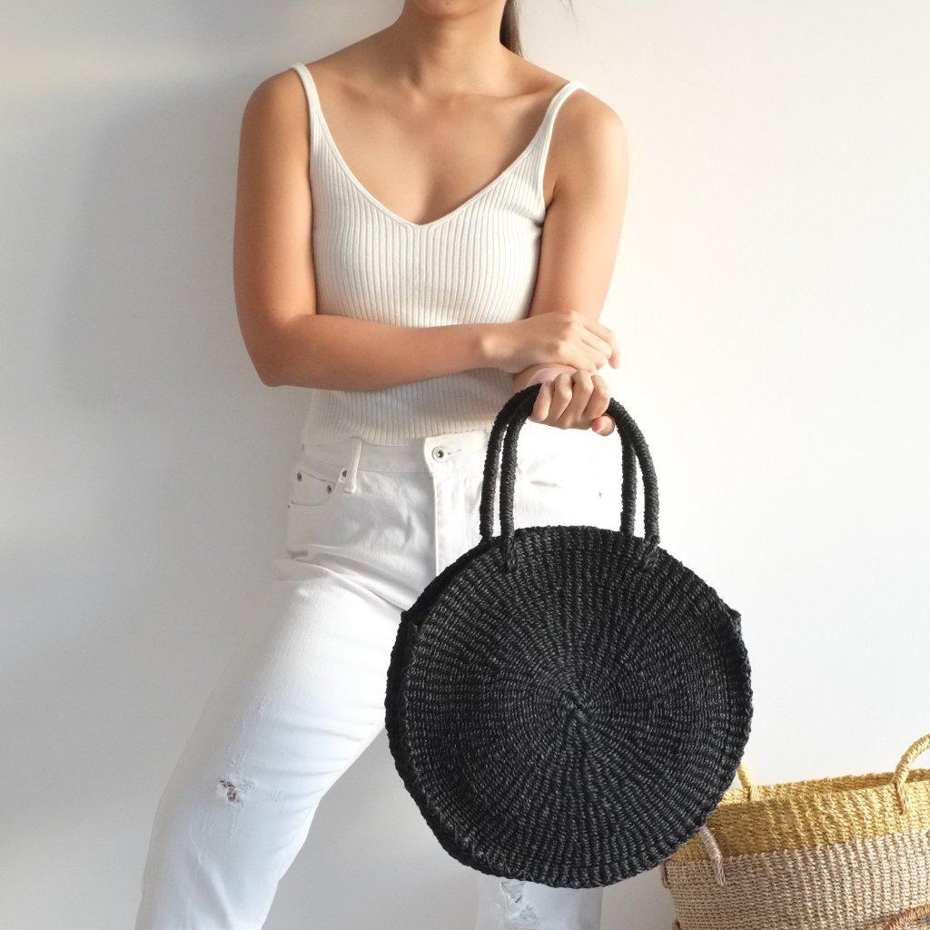 Aequem.com Shop Women's Ethical Fashion & Women's Sustainable Fashion Sola Midi Bag - Black-Bags-INNÉ Studios