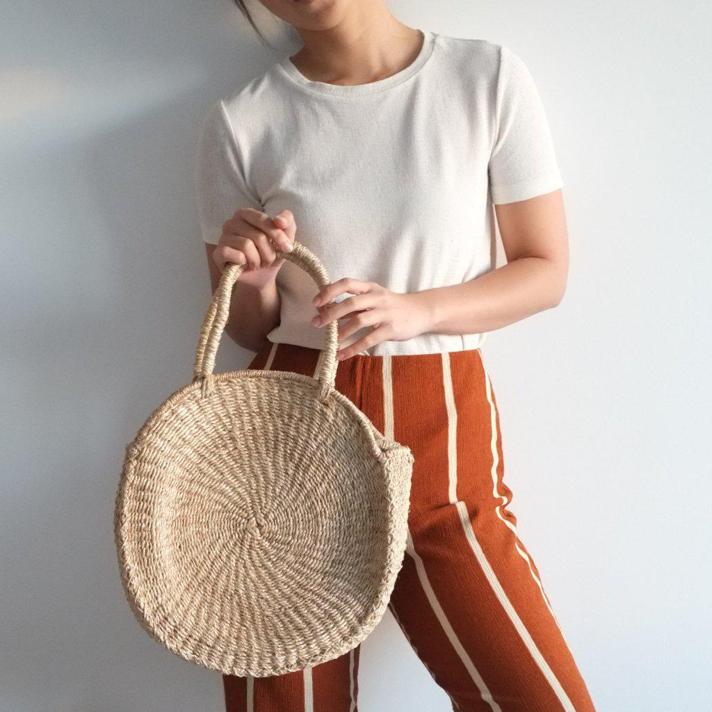 Aequem.com Shop Women's Ethical Fashion & Women's Sustainable Fashion Sola Midi Bag - Natural-Bags-INNÉ Studios