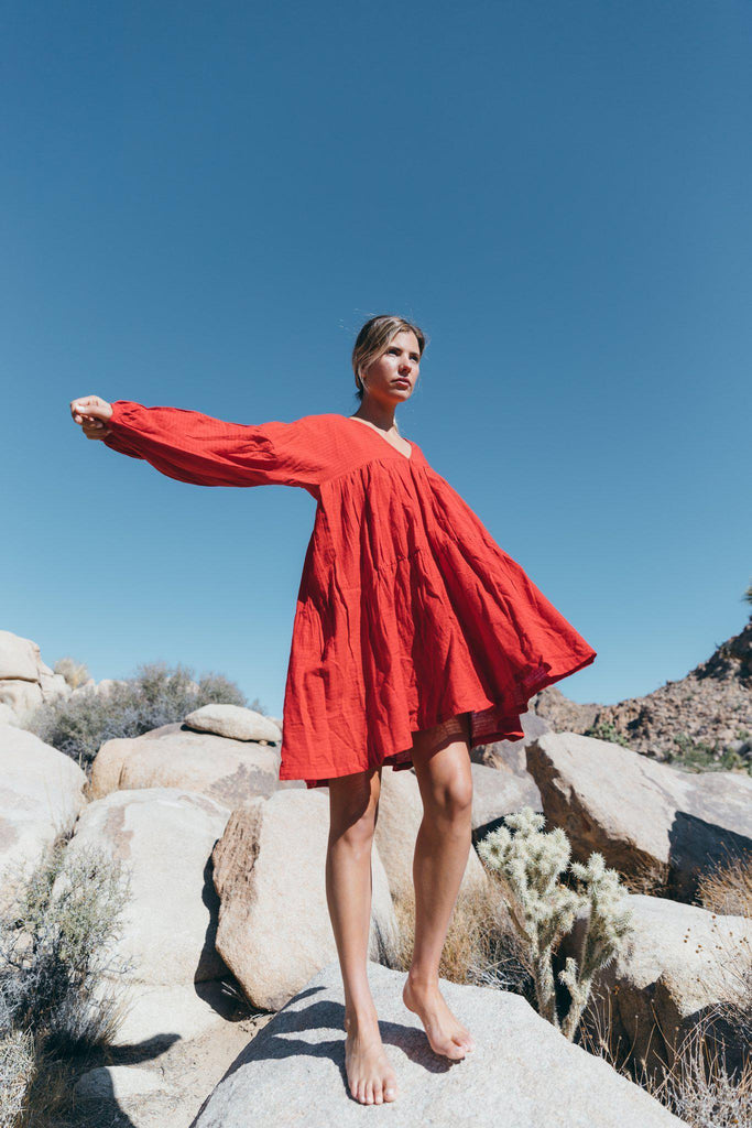Aequem.com Shop Women's Ethical Fashion & Women's Sustainable Fashion Symi dress in Wild Heart-Dresses-A Perfect Nomad
