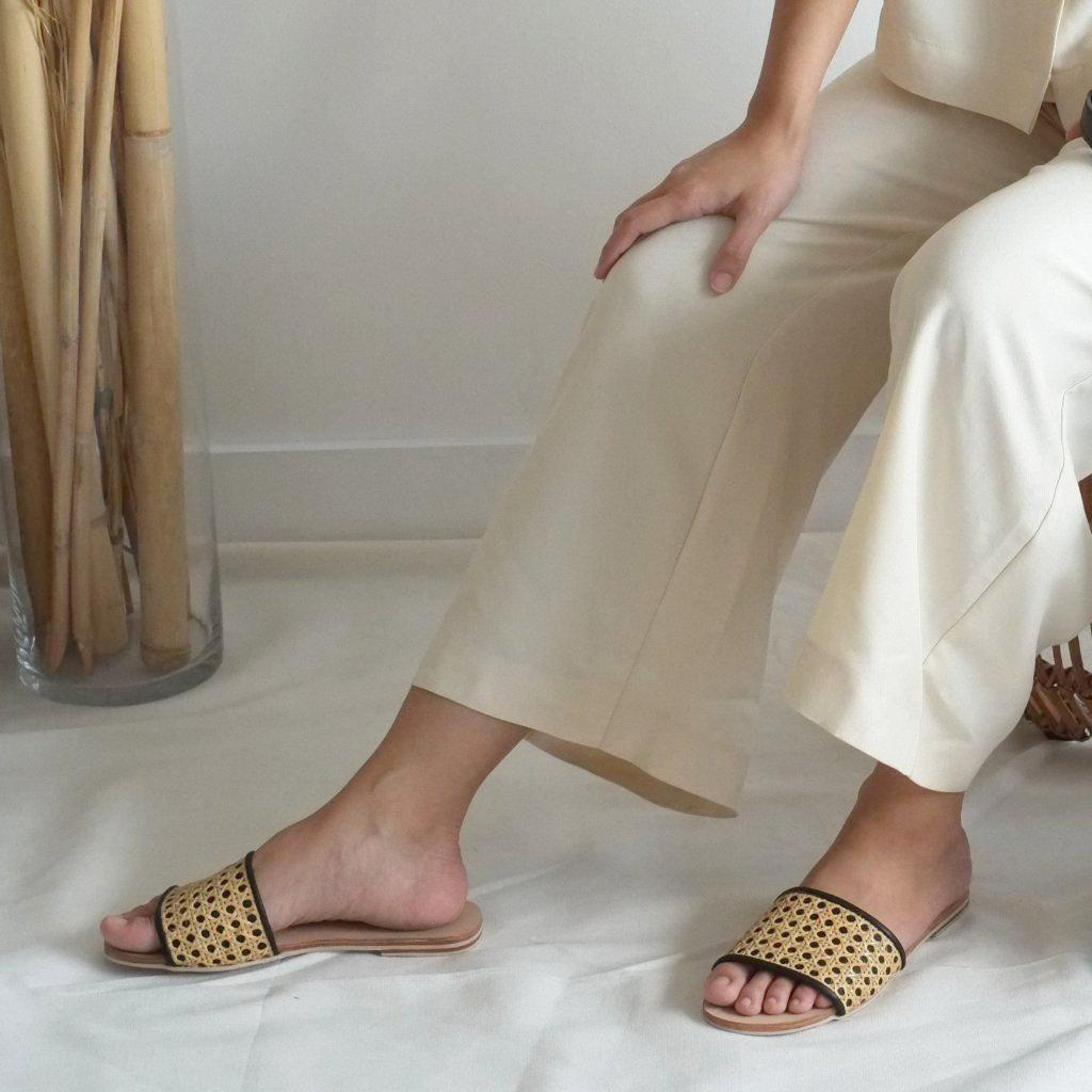 Aequem.com Shop Women's Ethical Fashion & Women's Sustainable Fashion Tala Slide - Black-Sandals-INNÉ Studios