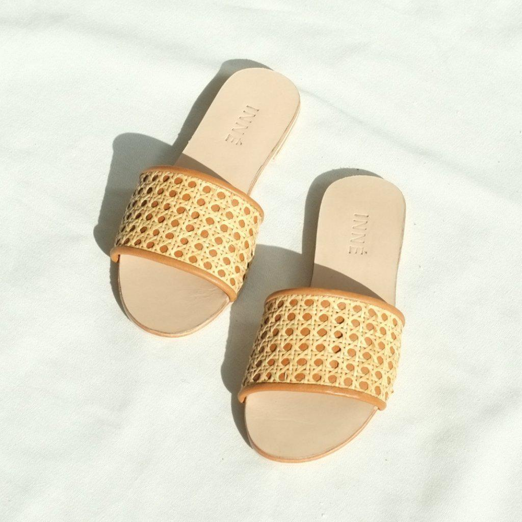 Aequem.com Shop Women's Ethical Fashion & Women's Sustainable Fashion Tala Slide - Tan-Sandals-INNÉ Studios
