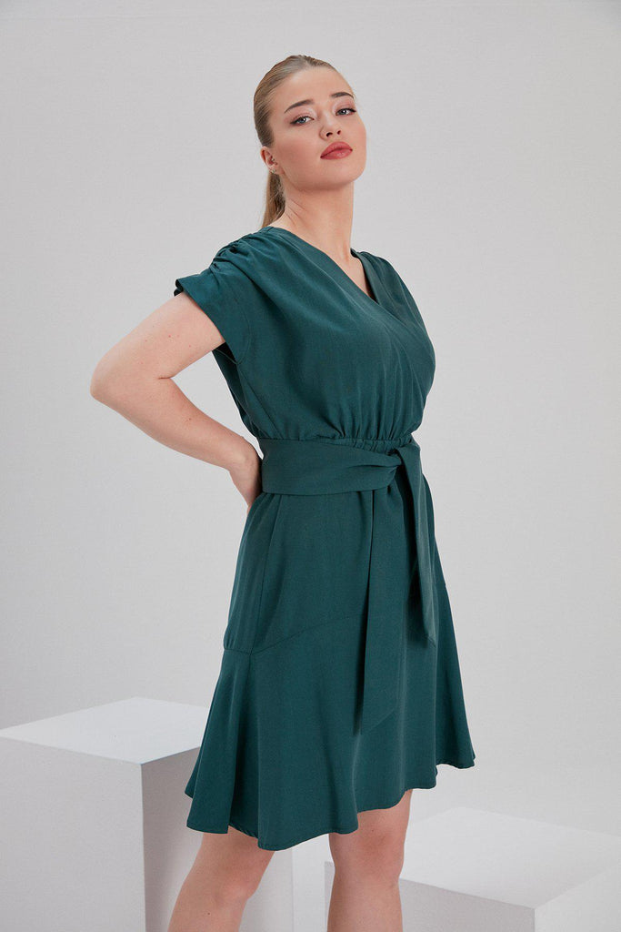 Aequem.com Shop Women's Ethical Fashion & Women's Sustainable Fashion Tencel Urbantess Dress in Green-Dresses-NOACODE