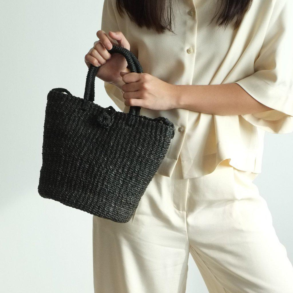 Aequem.com Shop Women's Ethical Fashion & Women's Sustainable Fashion Tisa Tote Sling - Black-Tote Bags-INNÉ Studios