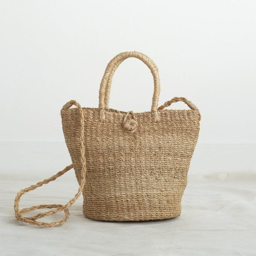 Aequem.com Shop Women's Ethical Fashion & Women's Sustainable Fashion Tisa Tote Sling - Natural-Tote Bags-INNÉ Studios