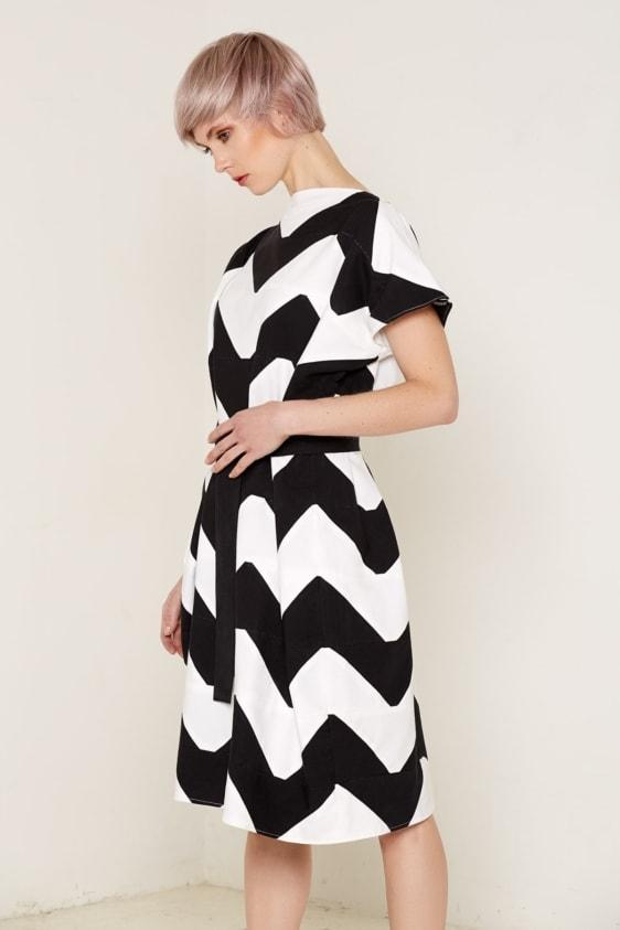 Aequem.com Shop Women's Ethical Fashion & Women's Sustainable Fashion Venus Dress - Black & White-Dresses-Bo Carter (UK)