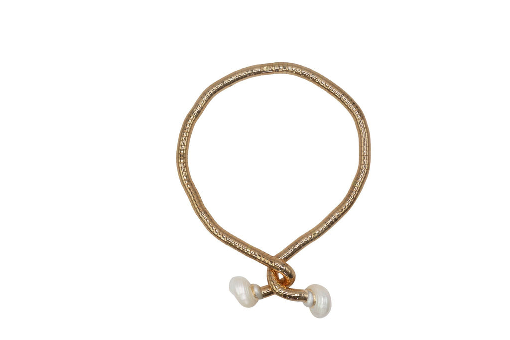 Aequem.com Shop Women's Ethical Fashion & Women's Sustainable Fashion Vintage Brass Wavy50 Choker-Jewellery-Carolina Wong (UK)