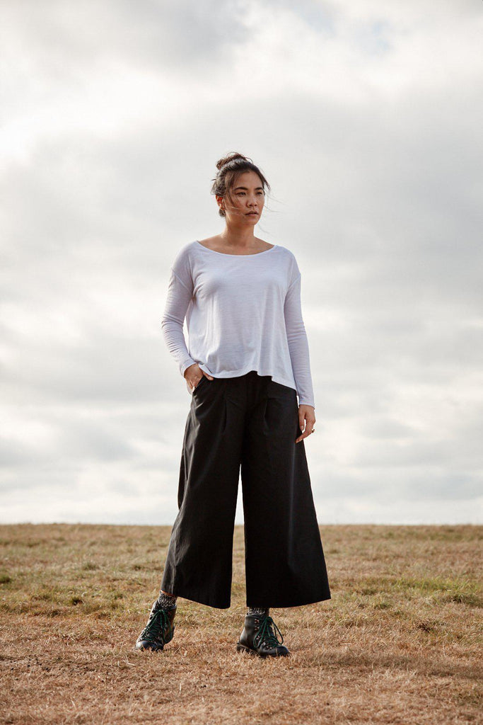 Aequem.com Shop Women's Ethical Fashion & Women's Sustainable Fashion Wide Leg Trousers-Bottoms-Asmuss Clothing (UK)