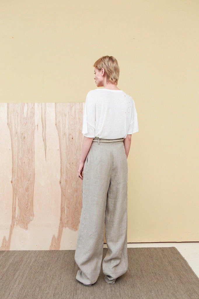 Aequem.com Shop Women's Ethical Fashion & Women's Sustainable Fashion Wide Linen Pants Agota-Bottoms-Reda Paula