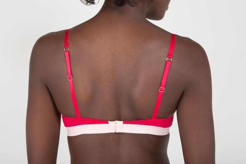 Aequem.com Shop Women's Ethical Fashion & Women's Sustainable Fashion Women's Strawberry Red Organic Cotton Triangle Bra-Underwears-Amaella (UK)
