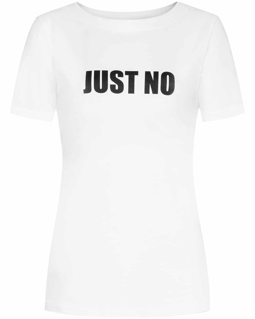 The Changing Factor-JUST NO Organic Cotton Statement Tee-Tops-aequem sustainable fashion
