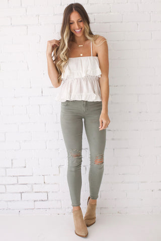 Hello & Goodbye Tiered Ruffle Top