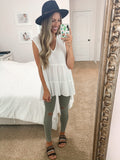 Olivia High Low Tunic - Off White