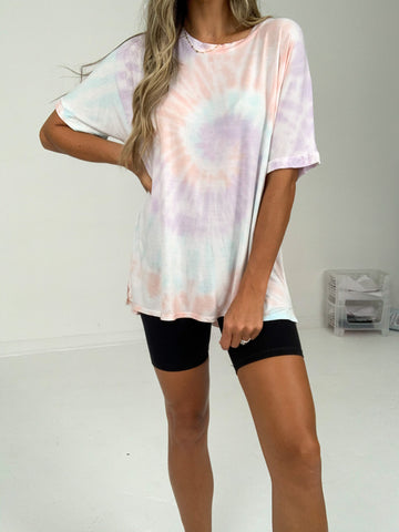 Cotton Candy Crewneck Tee