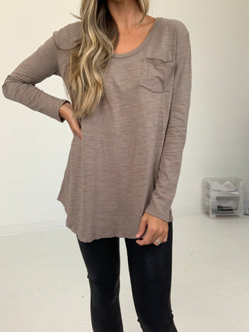 Reid Long Sleeve Pocket Top