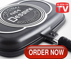 32CM DESSINI DOUBLE SIDED GRILL PAN