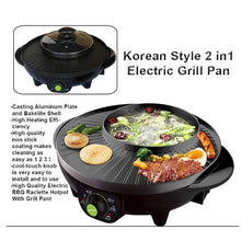 Load image into Gallery viewer, Korean 2 in 1 BBQ Grill Pan