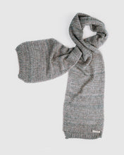 Load image into Gallery viewer, kate and confusion grey wool knitted scarf
