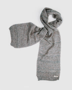 kate and confusion grey wool knitted scarf