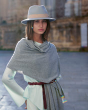 Load image into Gallery viewer, kate and confusion grey cashmere scarf shawl