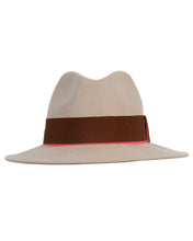 Load image into Gallery viewer, Kate and Confusion beige womens wool felt fedora hat