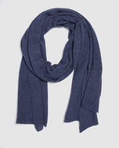 kate and confusion blue knit cashmere scarf shawl
