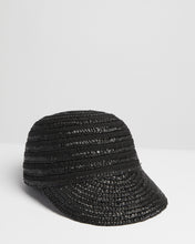 Load image into Gallery viewer, Kate and Confusion black summer  straw cap hat