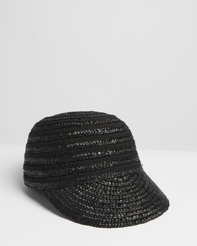 Kate and Confusion black summer  straw cap hat